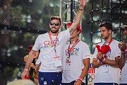 Olympionici přiletěli z Rio de Janeira rovnou do parku Rio Lipno. Petr Koukal.