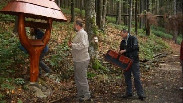 Pramen Křemežského potoka se stal po označení poměrně vyhledávaným místem.