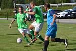 OP muži – 2. kolo (1. hrané): Sokol Kájov (modré dresy) – FK Slavoj Český Krumlov B 3:0 (0:0).