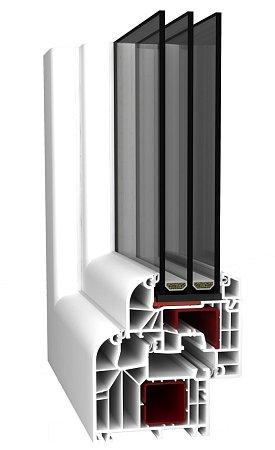 Plastová okna. Profil ALUPLAST IDEAL 8000round line.
