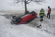 Nehoda se stala v 6.36 hodin u Frymburka a obešla se bez zranění.