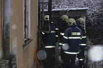 Požár bytu ve Vyšším Brodě.