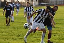 Fotbalové utkání krajského přeboru mužů / SK Otava Katovice - FK Topmen Spartak Kaplice 0:3.