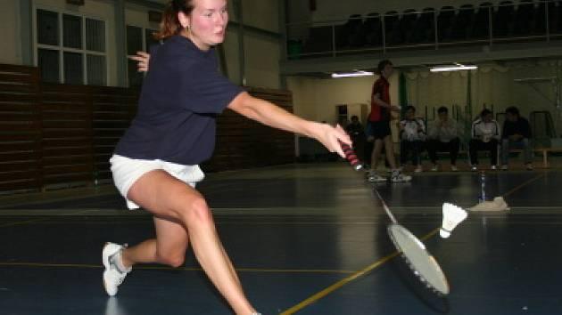 Nejúspěšnější účastnicí krajských přeborů dospělých za sezonu 2007/08 se stala českokrumlovská hráčka Štěpánka Vazačová (na snímku).