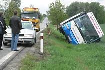 Nehoda autobusu u Dolního Třebonína se obešla bez vážnějších následků.