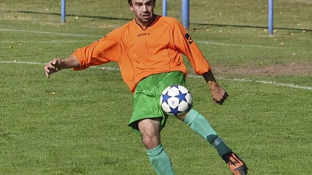 Šťastným gólem otevřel skóre českokrumlovský obránce Jakub Zatloukal.