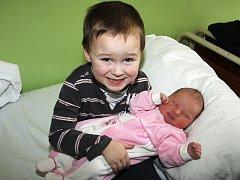 Čtyřletý brácha Luděček už netrpělivě očekával svoji malou sestřičku Magdu Kutlákovou, která spatřila světlo světa 17. února 2012 v půl třetí odpoledne. Miminko Věry a Luďka Kutlákových ze Srnína měřilo 55 cm a vážilo 4,39 kg.