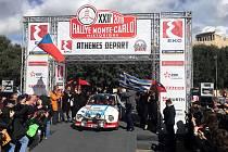 Karel Mach a Jan Bláha na 22. Rallye Monte-Carlo Historique 2019.