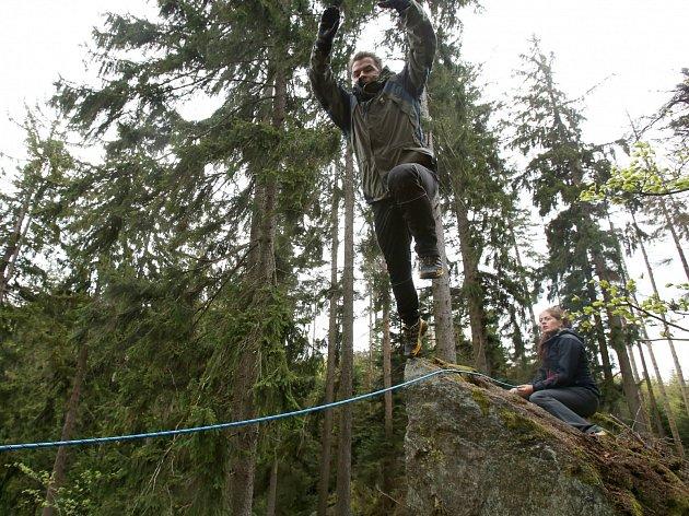 Přípravy dvacátého ročníku extrémního závodu zásahových jednotek PČRLadislav Kuboušek. Hlavní organizátor a tvůrce celé trati včetně náročných stanovišť extrémního závodu.