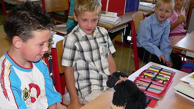 První školní den v Základní škole v Dolním Třeboníně.