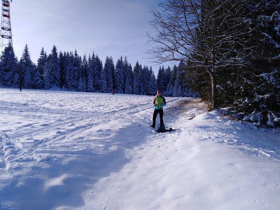 Rolbou jsou na Šumavě zatím najeté jen stopy na Zadově - Churáňově, a to na skate.