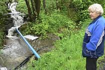 Voda ze čtvrtek na pátek potrápila hlavně lidi z Benešova nad Černou a okolí.