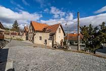 Zrekonstruovanaá lokalita Plešiveckého náměstí a Horské ulice v českém Krumlově.