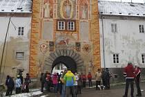 Rožmberská brána bude osazena původními renesančními vraty.