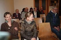 Setkání s některými členy bývalého Občanského fóra v Kaplici.