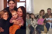 Rodina Nowakova (vlevo) se ptá rodiny Dvořákovy.