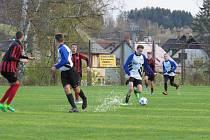 Oblastní I.A třída dorostu (skupina A) – 12. kolo: FK Spartak Kaplice / FK Dynamo Vyšší Brod (bílomodré dresy) – SK Mladé 3:0 (1:0).