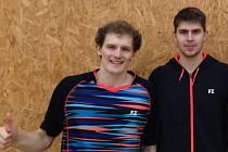 Dva ze tří krumlovských zlatých medailistů na turnaji - Pavel Florián a Jaromír Janáček (zleva).