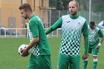 Českokrumlovští fotbalisté Zdeněk Kuna (vlevo) a David Růžička se postarali o všechny góly svého týmu v Milevsku.
