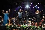 Broadway Night na Mezinárodním hudebním festivalu v Pivovarské zahradě v Českém Krumlově.