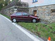 Nehoda na silnici mezi Větřním a Českým Krumlovem.