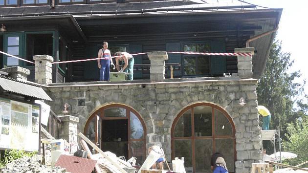 Rekonstruovaná chata na Kleti.
