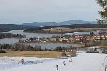 Ski areál ve Frymburku.