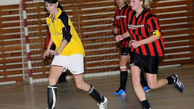 Jihočeská liga žen ve futsalu / SK Větřní - FC Šumava Frymburk 1:2 (1:0).
