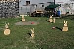 Velikonoční zahrada Stanislava Špačka v Přísečné.
