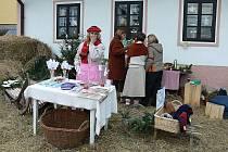 V Horní Plané si v sobotu mohli lidé na Adventním lidovém jarmarku koupit vše možné. Největším lákadlem byly vánoční dekorace. Na snímku Miroslava Prokopová.