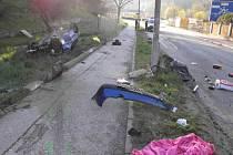 Nehoda nedaleko kruháče v Českém Krumlově.