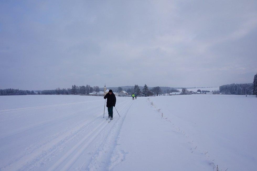 O trasy o délce asi třiceti kilometrů se stará více než 15 let rolbař Milan Mráz z Horní Plané.