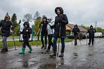 První přátelský pochod Nordic Walking v Dolním Dvořišti.