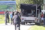 Natáčení filmu Zátopek v Milné u lipenského jezera