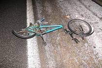 Bicykl zesnulého jedenasedmdesátiletého muže.