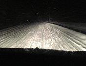 Sníh na Krumlovsku komplikoval ve středu i ve čtvrtek dopravu, takto to vypadalo na Větrné.