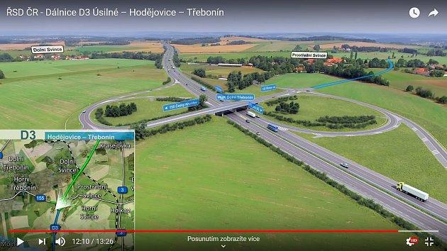 Stavba dálnice uProstředních a Dolních Svinců.
