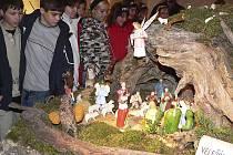 Betlém velešínského Pavla Rouhy se každoročně těší velké návštěvnosti.