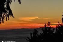 Východ slunce na Kleti.