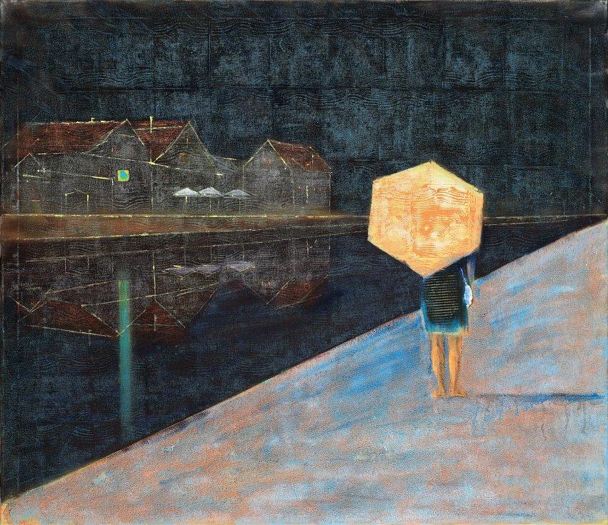 Alena Anderlová pobývala opakovaně v Krumlově. Namalovala sérii obrazů, kde ukazuje, jak ji toto město inspiruje. Nyní je její tvorba k vidění v Egon Schiele Art Centru v Krumlově.