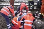 Nehoda na přejezdu v Kaplici Nádraží.