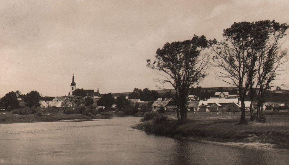 Dolní Vltavice na začátku minulého století.