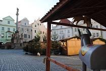 Adventní trh v Českém Krumlově je zatím zavřený.