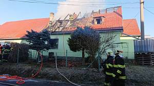 V Horní Plané hořel dům. Vyhasl v něm lidský život