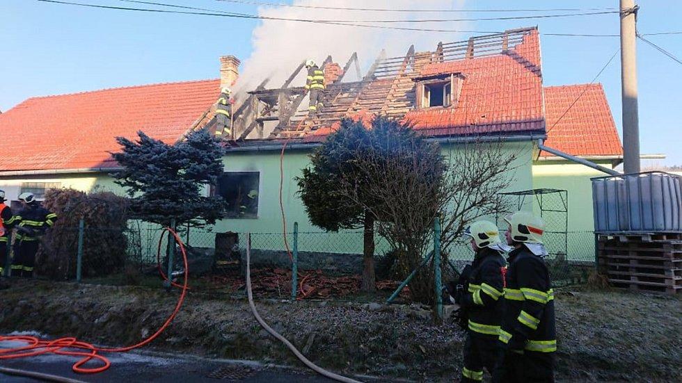 Požár v Horní Plané na Nový rok si vyžádal lidský život.
