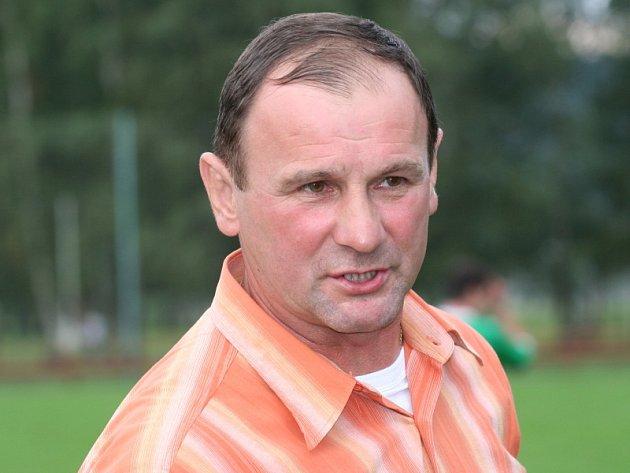 Předseda a trenér FK Spartak Kaplice Jaroslav Křiva.