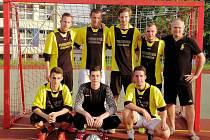Vítěz 1. českokrumlovské městské ligy malého fotbalu 2018/19 – tým Bombarďáků Větřní.