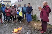 Mnich Pema Samdup navštívil Český Krumlov a Frymburk.