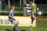 I.A třída (skupina A) – 2. kolo (1. hrané): FK Spartak Kaplice (bíločerné dresy) – FC Westra Sousedovice 1:3 (0:1).