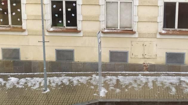 Úterní kroupy v Linecké ulici v Kaplici.
